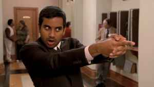 Ansari playing Tom Haverford on Parks and Recreation.