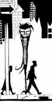 Protagonist, Nny on the street corner.