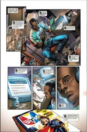 "Nix Uotan analyzing a comic book in ""Multiversity #1"""