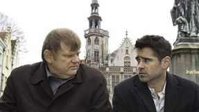 Ken (Brendan Gleeson) and Ray (Colin Farrell) discuss the afterlife.