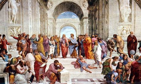 Are we headed towards a new Renaissance, a new classical age, or a new Dark Age with the World Wide Web? (Raphael, School of Athens, 1509)