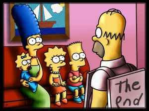 The Simpsons is one of many shows which have passed their prime.  Picture: Bennettua (Deviant Art)