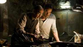 Yinsen and Tony work together to build the components of the arc reactor in Iron Man