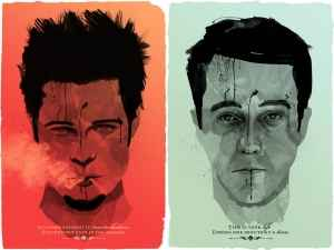 Fight Club 2D poster.