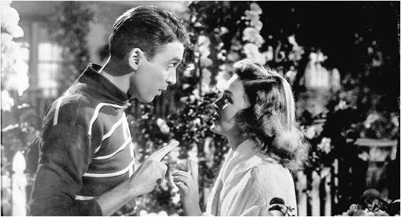 James Stewart and Donna Reed in It's A Wonderful Life (Capra, 1945)