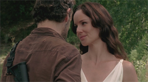 "Rick is visited by Lori's ghost in ""Home."""