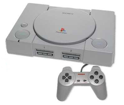 The original playstation system implemented CD's for games and a memory card system for saving.