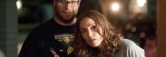 Seth Rogen and Rose Byrne in 'Neighbors'
