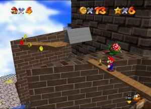 Whomp's Fortress in Mario 64