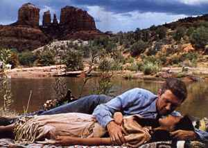 James Stewart and Debra Paget in the Western Broken Arrow (1950).