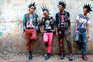 The punk band Rebel Riot