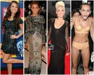 Miley Cyrus throughout the years