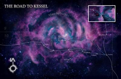 The Kessel Run is a dangerous section of space near Abeloth's resting place. The Millennium Falcon made the Kessel run in less than 18 parsecs.