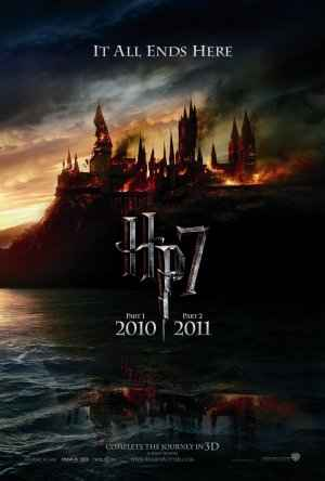 The teaser poster of Harry Potter and the Deathly Hallows advertising the release of the final entry through two parts.