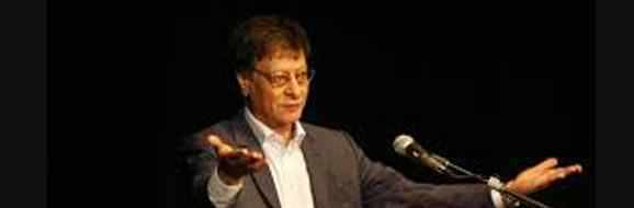 Mahmoud Darwish in a pluralist pose that reflects his vision of unity in the poem A Lover from Palestine.