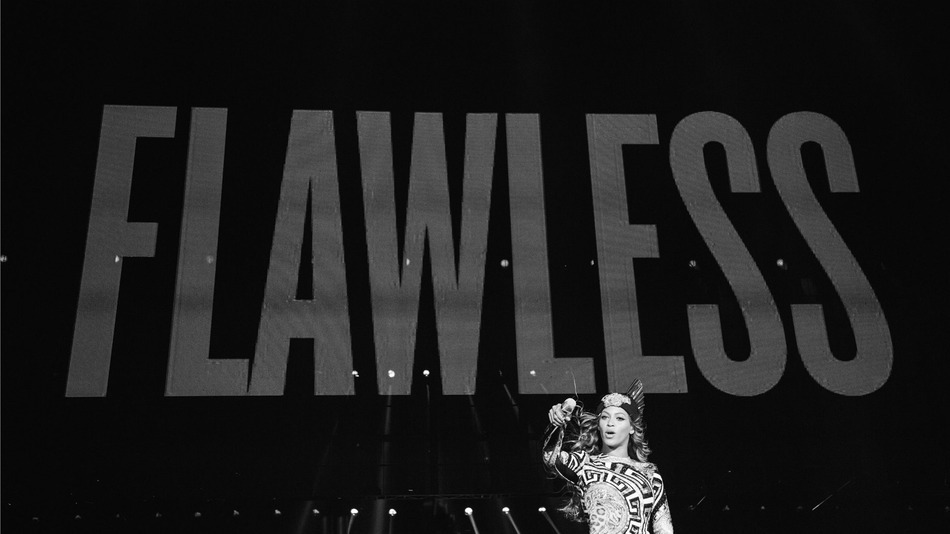 "Beyonce performing ""***Flawless"" in concert"