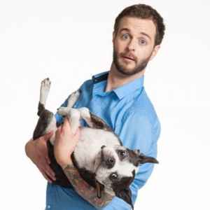 Curtis Lepore and dog, Buster