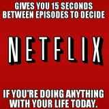 Services like Netflix, which encourage you to spend several hours watching a screen can breed unhealthy habits.