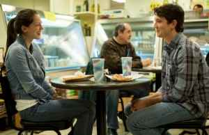 Andrew on a date with Nicole (played by Melissa Benoist) in one of the film's few tranquil moments.