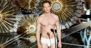 Neil Patrick Harris got almost naked to pay tribute to the Best Picture winner, Birdman.