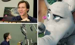 Jim Carrey does voice acting for Horton in the film Horton Hears a Who!