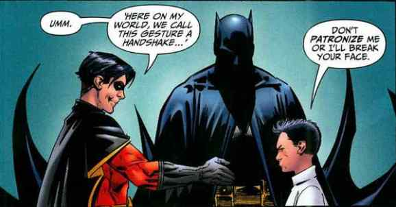 Damian does not take kindly to Robin.