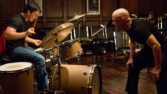 Andrew Neyman and Terence Fletcher (played by Miles Teller and J.K. Simmons) develop one of the most disturbing apprentice/mentor relationships in the 2014  drama, Whiplash.