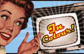 Vintage ad for coloured TV
