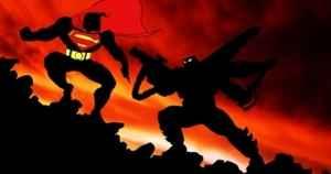 Batman challenging Superman