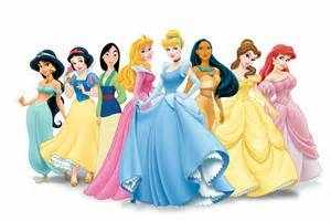 Lineup of Disney Princesses