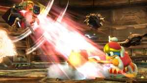 King Dedede knocks his foes back.  Can they recover?