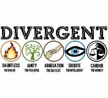 The factions in Divergent are compared to the stereotypical cliques of high school.