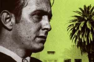 The quintessential L.A. writer, a palm tree appropriately visible in the background.