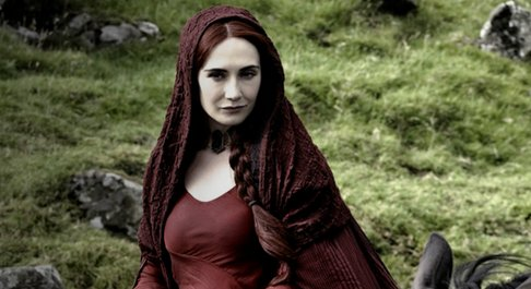 "Melisandre (Carice Van Houten) also known as ""The Red Woman""."