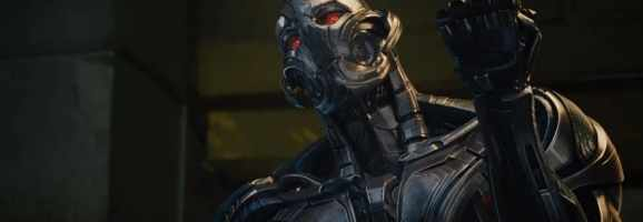 "Ultron challenges his ""father"" Tony Stark."