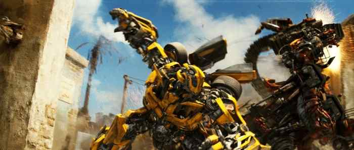 Disorienting action scene from Transformers 2