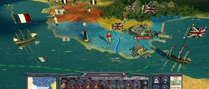 "English and French campaign movements in ""Napoleon: Total War."""
