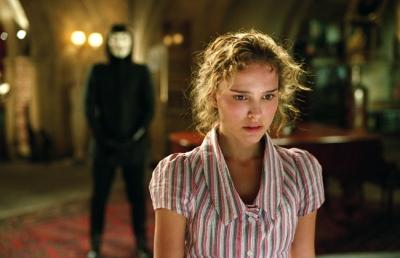 "Natalie Portman stars as Evey Hammond in ""V for Vendetta"""