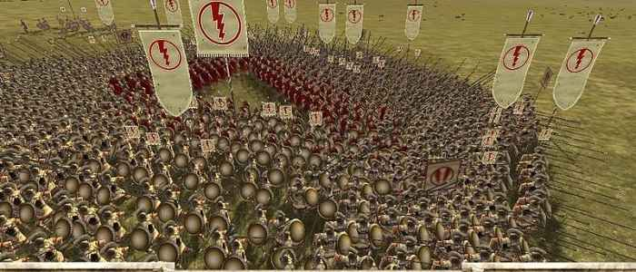 "A victorius Greek army in ""Rome: Total War."""