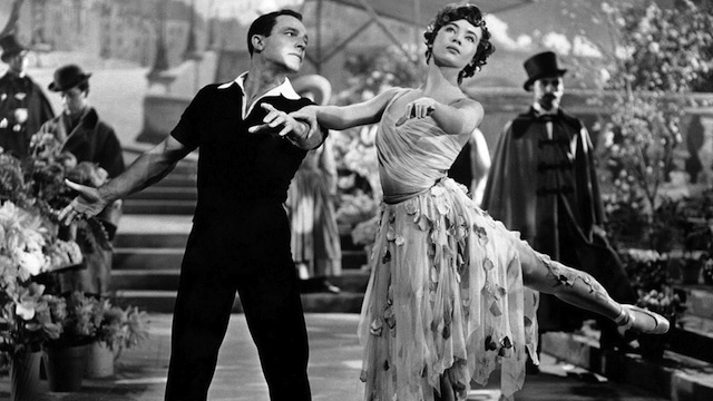 "Gene Kelly and Leslie Caron during the balletic climax of ""An American in Paris."" The film was named by Oscar voters as the best film of 1951. Today, it's Kelly's next film, ""Singin' in the Rain,"" which audiences remember."