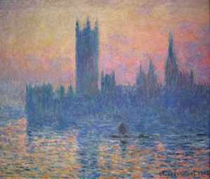 Houses of Parliament, Sunset; Claude Monet, 1903.