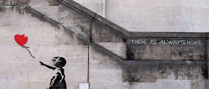 Girl with Balloon is one of Banksy's famous works of art.