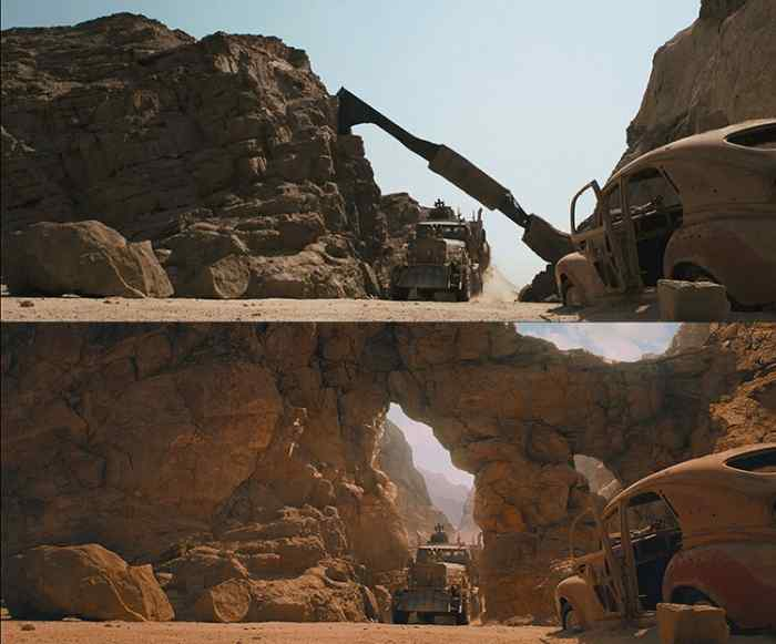 Before and After Canyon Arch