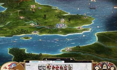 "A view of London and the English Channel from ""Empire: Total War."""