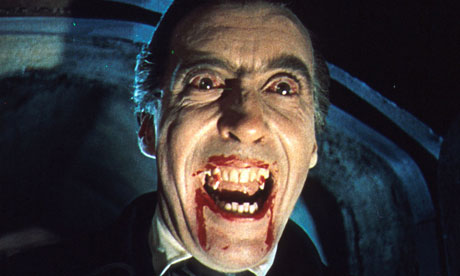 Christopher Lee as Dracula in Horror of Dracula