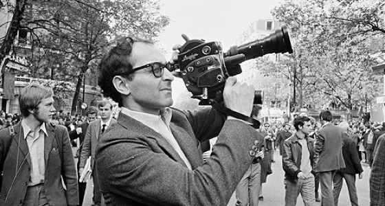 Jean Luc-Godard in Paris Circa 1962: Hand-held cameras were a tad more rudimentary then.