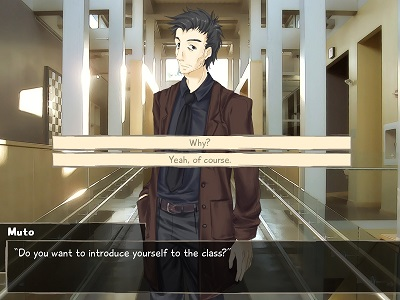 The VN branches into different paths depending on the player's choices.