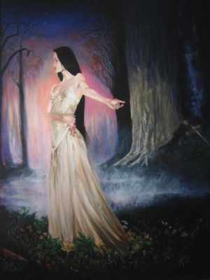Luthien and Beren Jeff MacLeod, acrylic on canvas.
