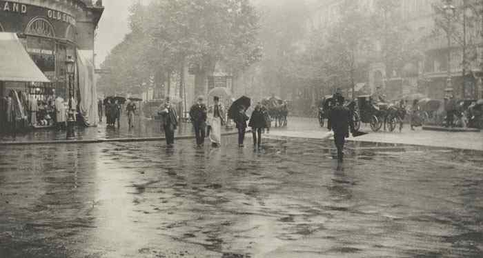 """A Wet Day on the Boulevard, Paris"" (1893)"