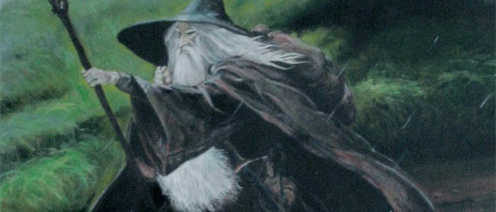 Gandalf, artist: Jeff MacLeod, acrylic on canvas. This is my painting based on a work by John Howe.